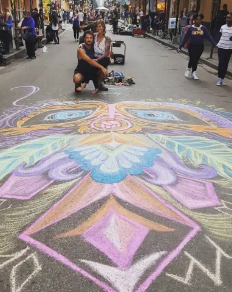 Heartspace Art_Murals with a Message_Murals_Womens March_New Orleans_LA_,Chalk Mural_