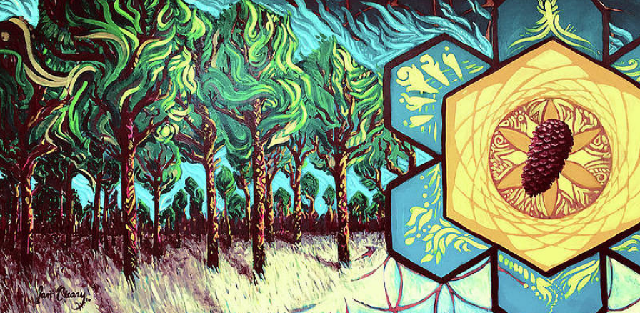 Murals with a Message_ Murals_ Heartspace Art_Flatlands_trees_pinecone_forrest_Florida_environment