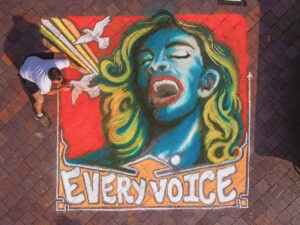 Every Voice - Chalk Mural @ Art in the Park chalk art competition. Art in the Park was held at James Weldon Johnson Park in downtown Jacksonville.