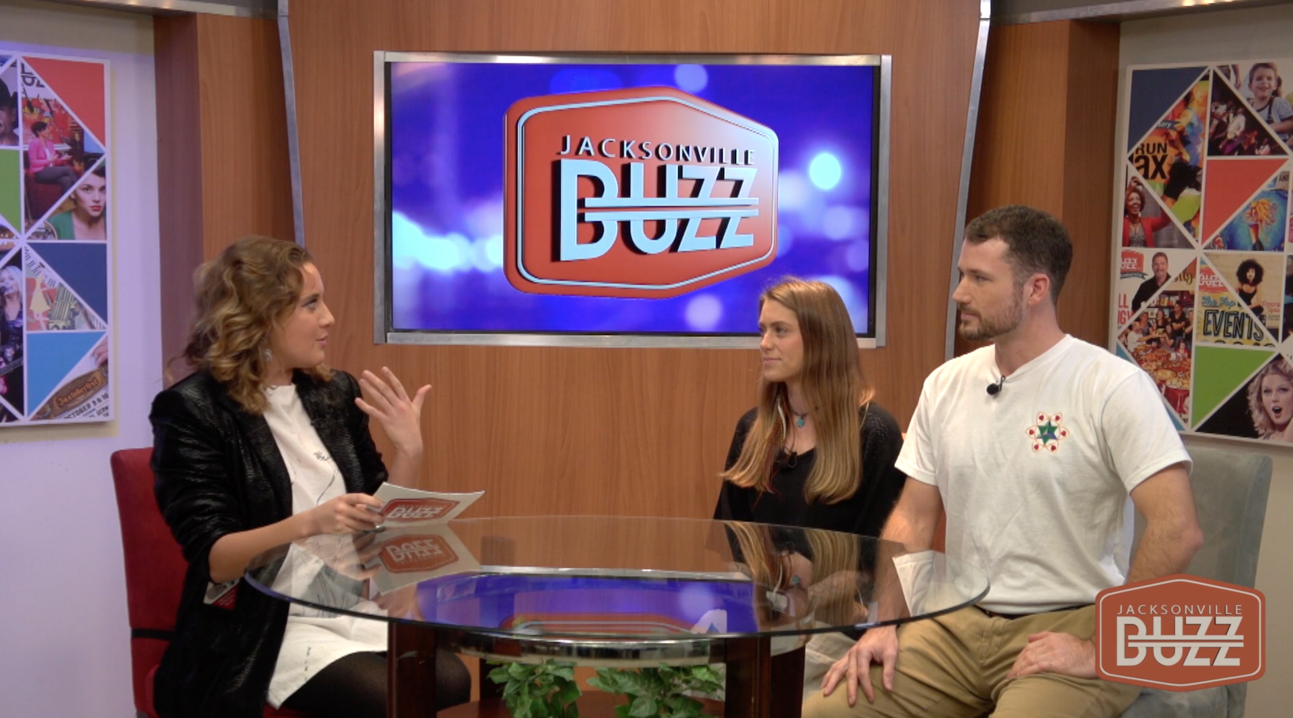 Ian & Danielle Cleary interview with the Jacksonville BUZZ about their Murals with a Message and their heart based art movement.