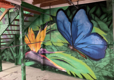 Bird of Paradise - Butterfly - St. Augustine - Mural - Warehouse Mural - mural with a message