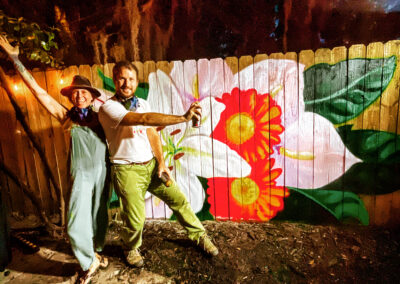 Bouquet @ The Real 904 - mural - flowers - Ian & Danielle Cleary - Spray paint - murals with a message