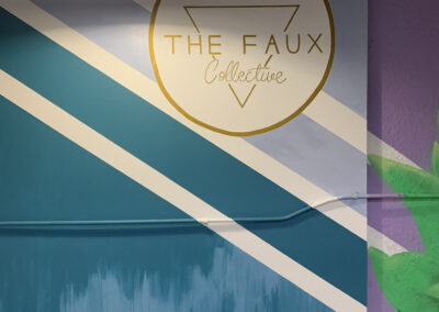 The Faux Collective - Bird of Paradise - Butterfly - Jungle - St. Augustine - Mural - Warehouse Mural - mural with a message