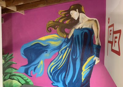 The Faux Collective - Spirit Guide - Future Friends - Jungle - St. Augustine - Mural - Warehouse Mural - mural with a message