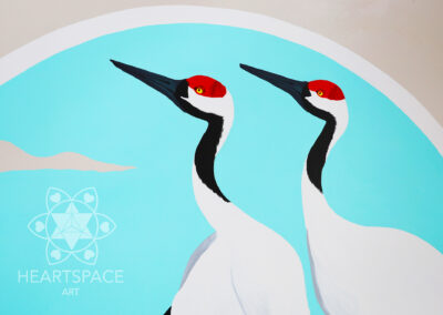 Red Crown Cranes - Japanese - Asian - Restaurant - Mural - Hand Painted- St. Augustine - Florida - Heartspace Art - Murals with a message - Nocatee - Sushi Bar